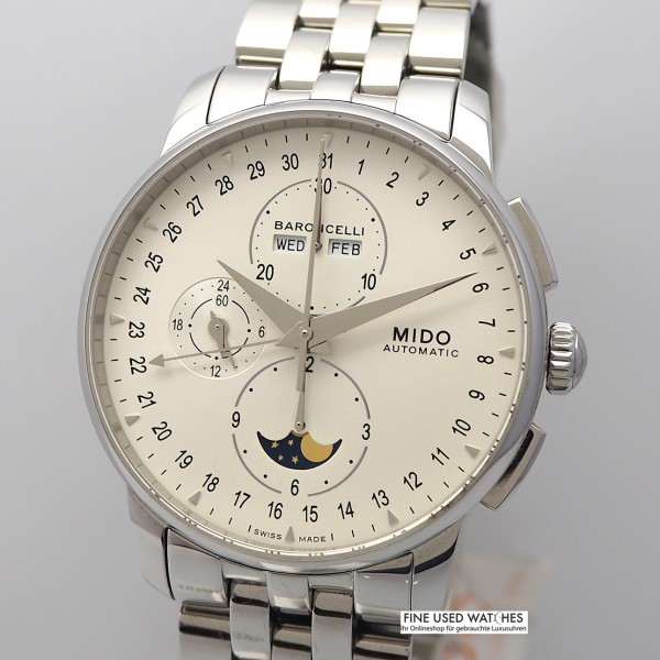Mido Baroncelli Chronograph Vollkalender M86074 -ungetragen/neu