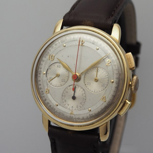 Lemania Chronograph Vintage Cal.CH 27, Gold 18k/ 750