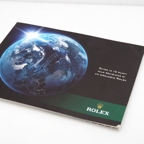 "Rolex Oyster Perpetual "" Revisione orologio "" booklet/ Beschreibung italian"
