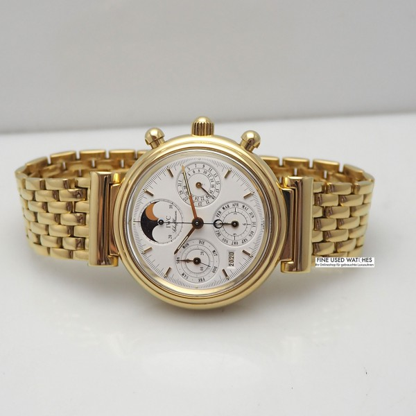 IWC Da-Vinci Ewiger Kalender Chronograph Ref.:3750, Gold 18k/750, Box+Papiere