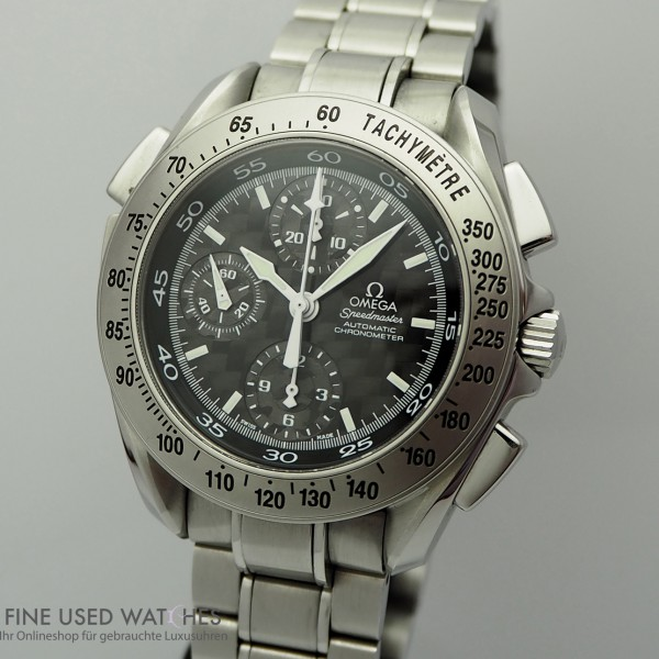 Omega Speedmaster Rattrapante Chronograph/ Carbon 177.0320 TOP Zustand