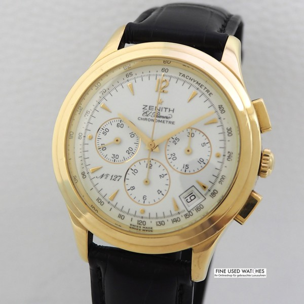 Zenith El Primero Chronometer Chronograph Ref.30.1250.400 18k/750/-Gold
