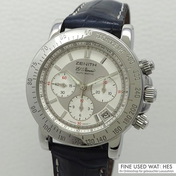 Zenith El Primero Chronograph 02.0461.400, Stahl/Leder, Zenith Box, TOP