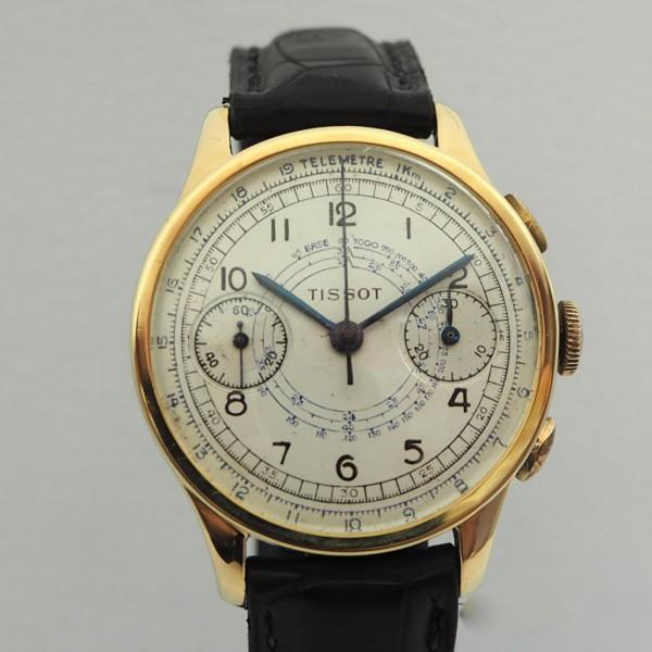 Tissot Vintage Chronograph Cal.33.3 18k/750 Gold SELTEN