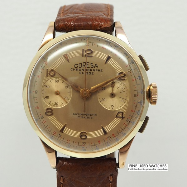 Coresa Chronograph 18 k Rose Gold
