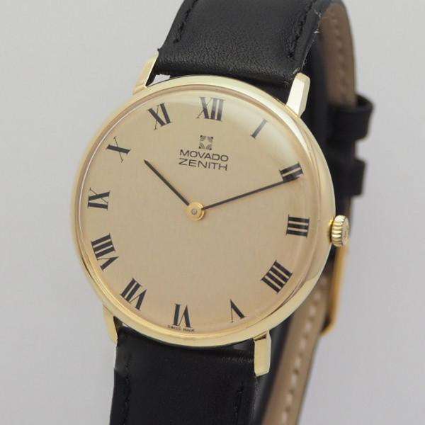 Zenith -Movado Calatrava roman dial Gold 18k/750 handwound NOS