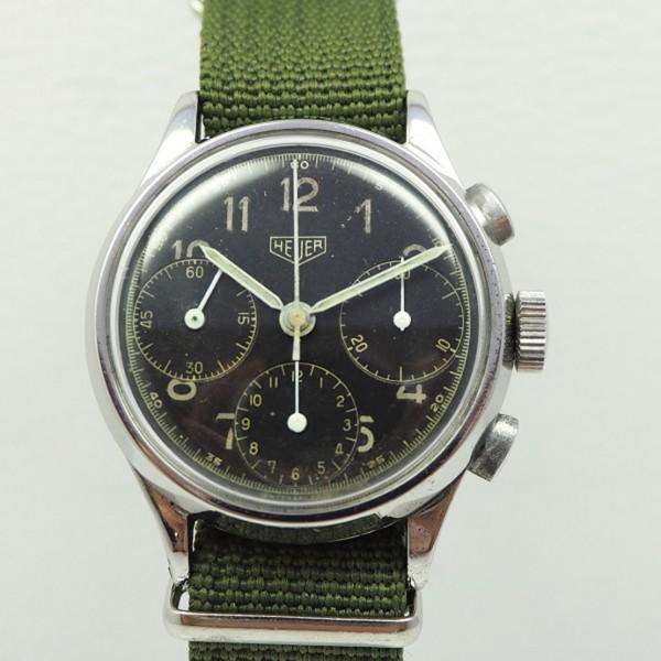 Heuer Military Chronograph Handaufzug Valjoux71