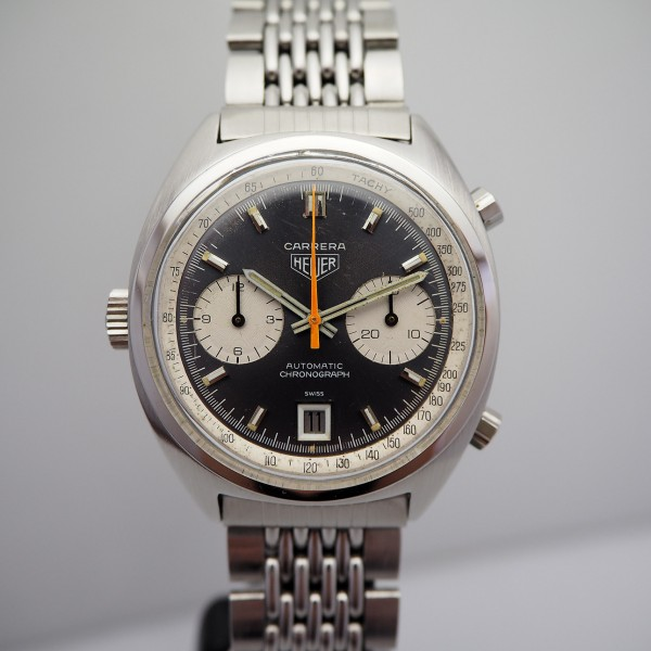 Heuer Carrera Vintage Chronograph 1153 Stahl / Stahl