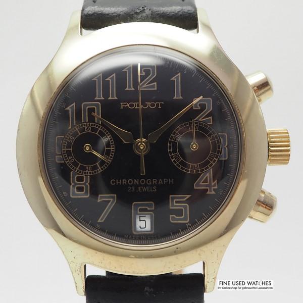 Poljot Chronograph Cal.3133 vergoldet
