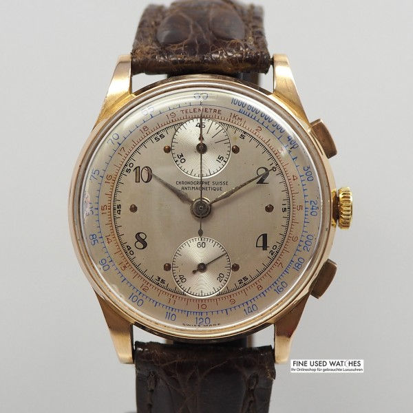 Chronographe Suisse Venus 170 18k/750 Rosegold