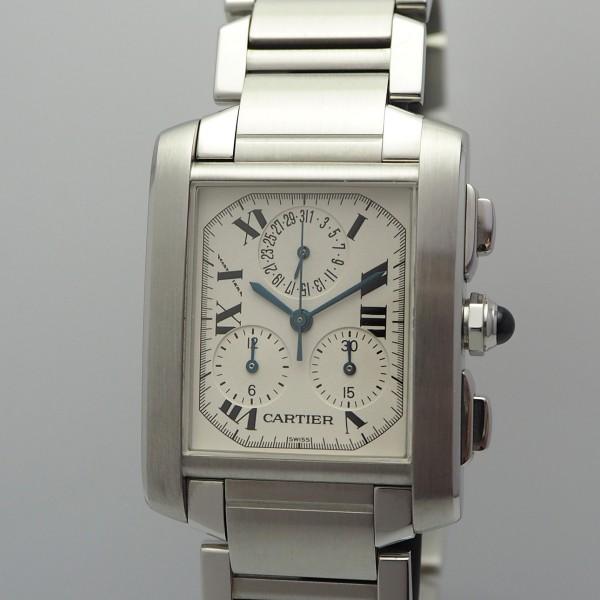 Cartier Tank Francaise Chronoflex Chronograph 2303 NOS Box & Papiere