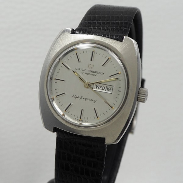 """Girard Perregaux Gyromatic """"High Frequency"""" Day-Date very rare"""