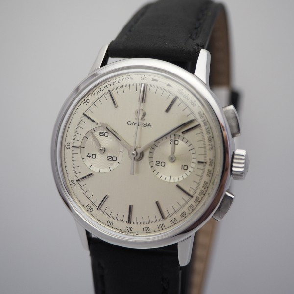 Omega Vintage Chronograph Handaufzug 320, Stahl 101.009 from 1963, serviced