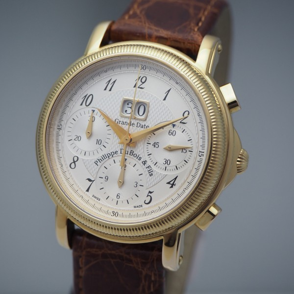 Philippe DuBois & Fils et Fils Grande Date Chronograph Stahl vergoldet