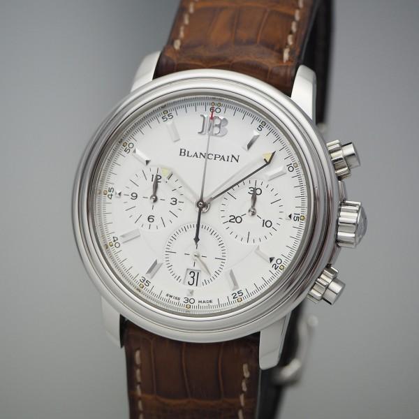Blancpain Leman Chronograph Automatik 2185, Stahl, Box+Papiere