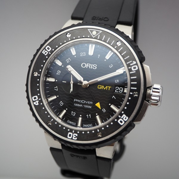 Oris ProDiver GMT, 01 748 7748 7154 Stahl/Kautschuk, Box-Unterlagen
