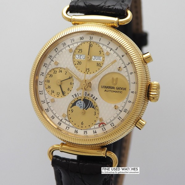 Universal Genève Vollkalender mit Mondphase Chronograph