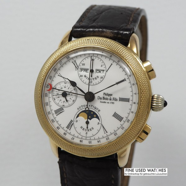 Philippe DuBois & Fils Collection Musee 38/ Triple Date Calendar Moon -Silber 925/vergoldet