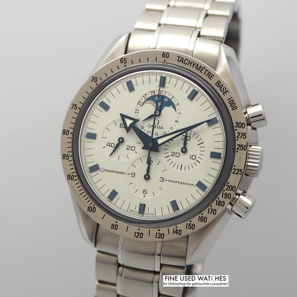 Omega Speedmaster Broad Arrow Chronograph Moon 3875200, Stahl/ Stahl