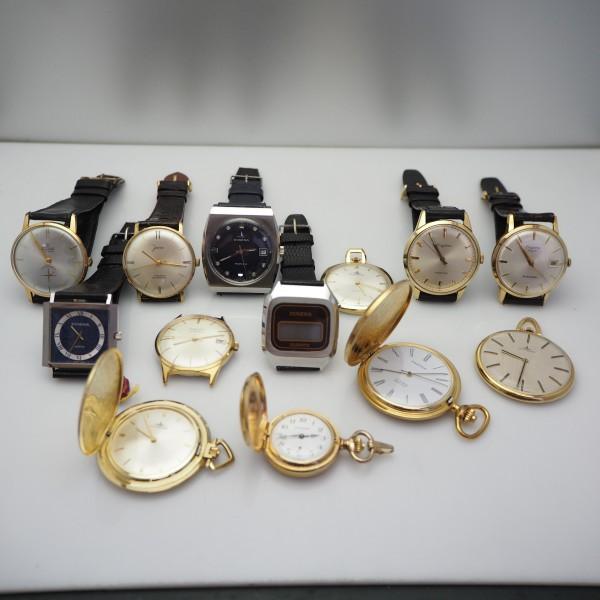 Dugena Konvolut Armdanduhren und Taschenuhren aus Dugena-Uhrmachernachlass!