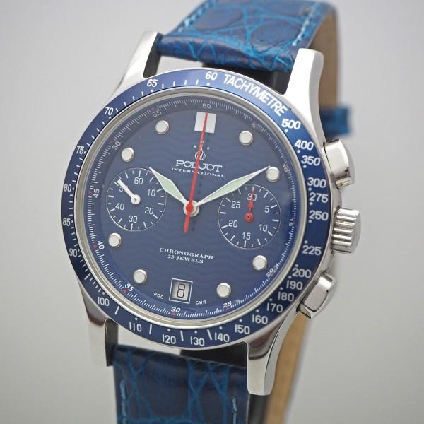 "Poljot Chronograph ""blue"" 3133 Full Set very rare"