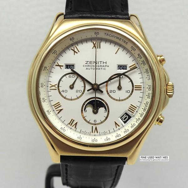 Zenith El Primero Chronomaster 18k/750 Gold Vollkalender Mondphase