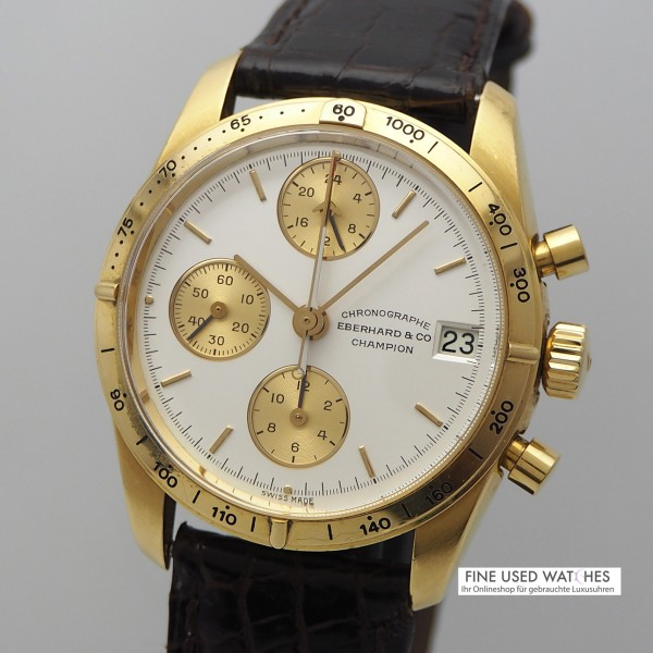 Eberhard & Co Champion Chronograph Gold 18k/750, Box+Papiere