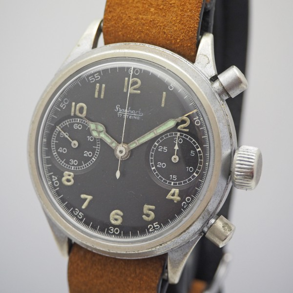 Hanhart Vintage Military Chronograph Flyback