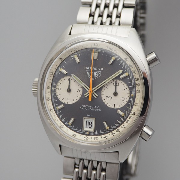 Heuer Carrera Vintage Chronograph 1153 Stahl / Stahl