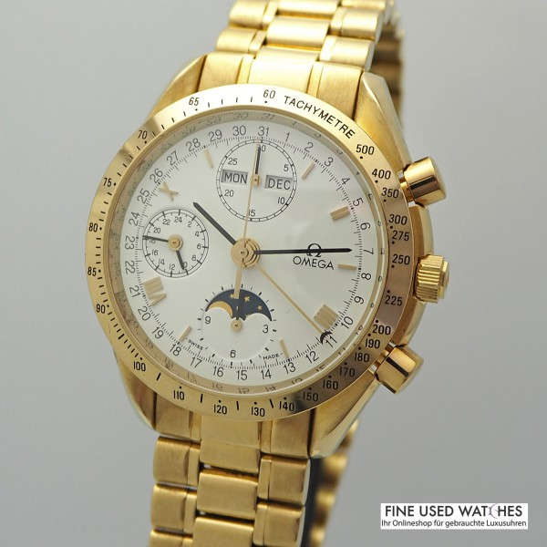 Omega Speedmaster Triple Calendar Moon 18k Gold