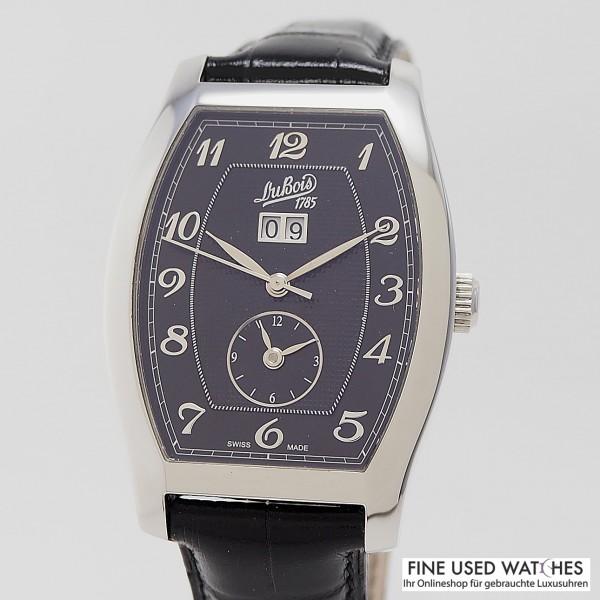 DuBois & Fils Tonneau Grande date und GMT mit Papiere