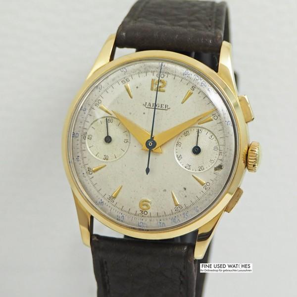 Jaeger Chronograph Vintage 18k Gold
