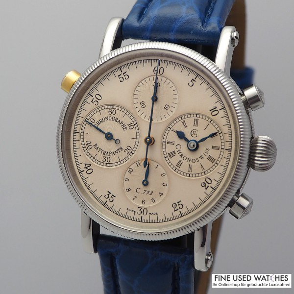 Chronoswiss Rattrapante Chronograph CH 7323 Box und Papiere