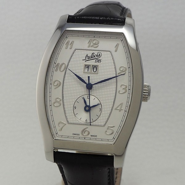 DuBois & Fils Tonneau Grande Date und GMT mit Papiere NOS/ ungetragen