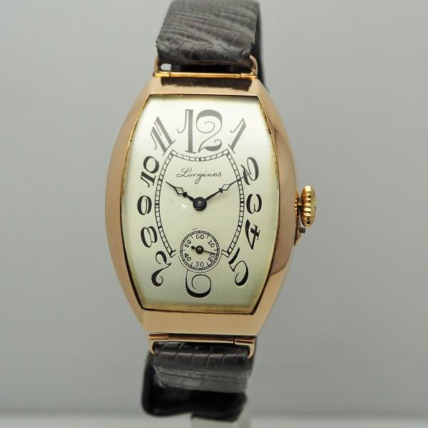 Longines Tonneau Vintage 583/- Rosegold