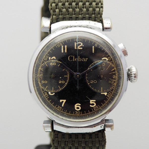 Clebar Vintage Military Chronograph Stahl