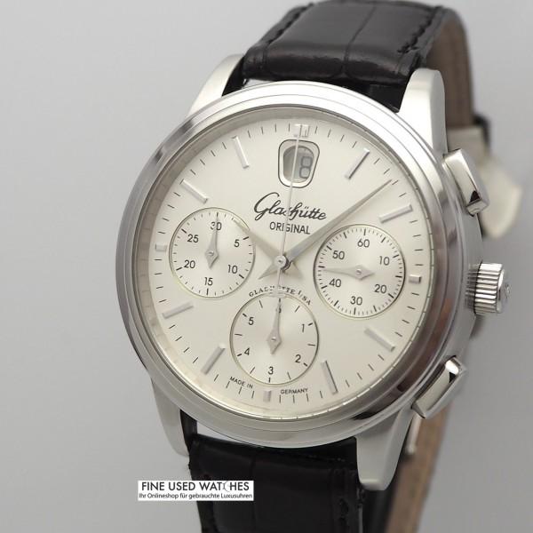 Glashütte Original Senator Chronograph DATE, Box+Papiere -TOP