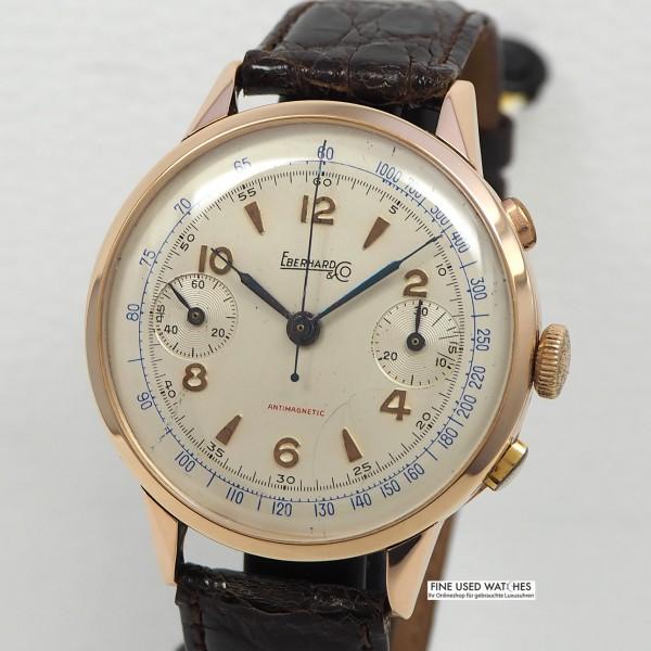 Eberhard & Co. Vintage Chronograph Cal.65 18k/750 Rosegold