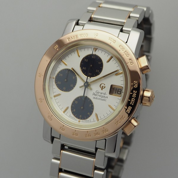 Girard Perregaux Chronograph GP 7000 GBM, Stahl/ Rosegold