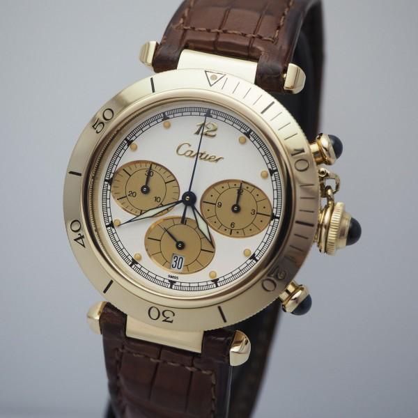 Cartier Pasha Chronograph Gold 18k/750 Box & Papiere+ Cartier Service