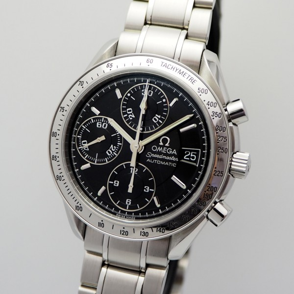 Omega Speedmaster Date Chronograph 25133000 Stahl/Stahl, TOP, Box+Papiere