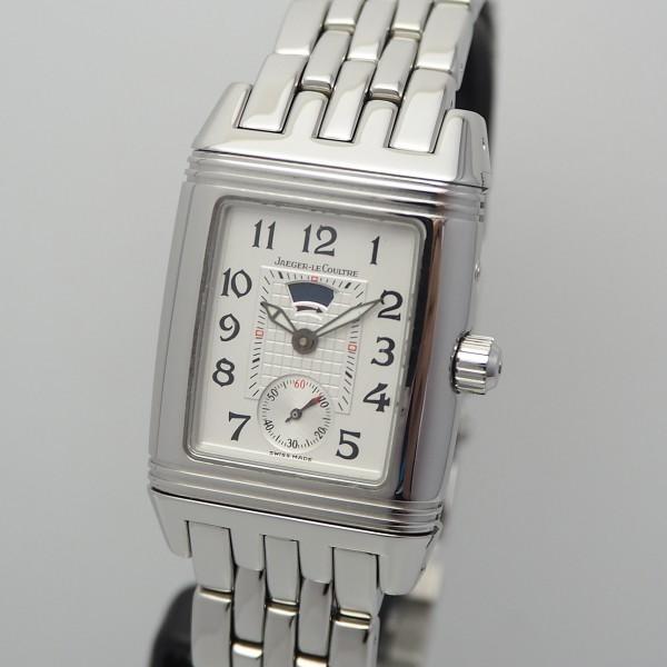 Jaeger LeCoultre Reverso Duoface Diamonds 296.8.74 Stahl/ Stahl, B&P