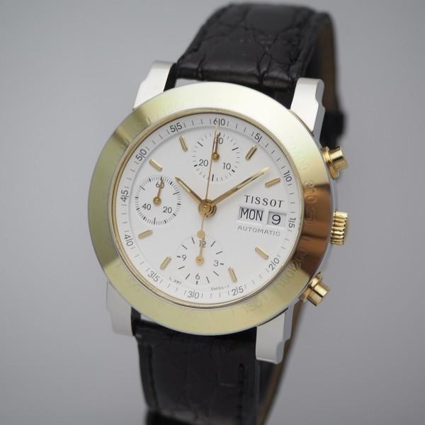 Tissot Chronograph Automatik Stahl/Gold, Box+Papiere / rare