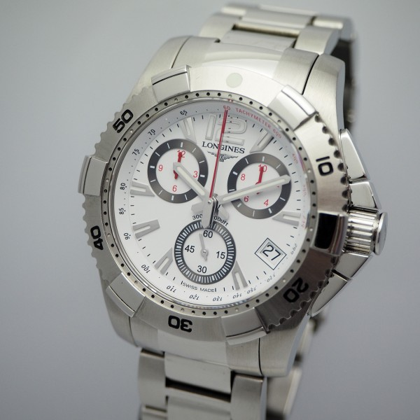 Longines Hydro Conquest Chronograph Stahl/Stahl, B&P RESERVIERT