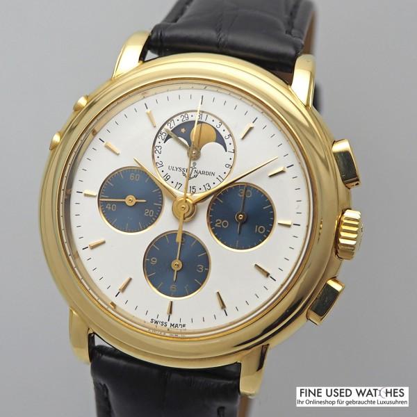 Ulysse Nardin Chronograph mit Mondphase Gold limited Edition