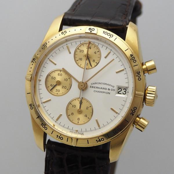 Eberhard & Co Champion Chronograph Gold 18k/750, Box+Papiere