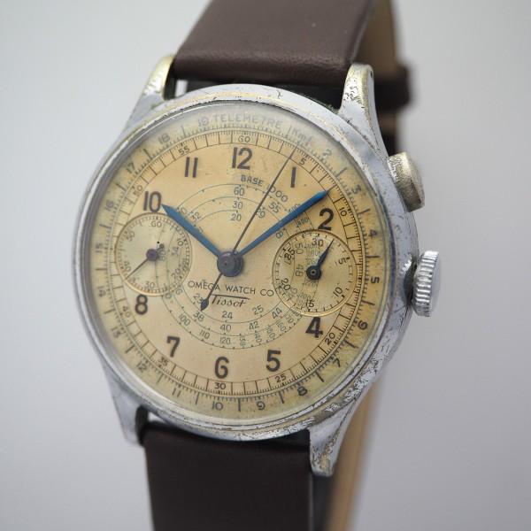 Omega Watch Co/ Tissot Chronograph Lemania 15CHT Monopusher