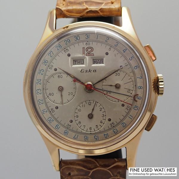 Eska Triple Calendar Chronograph