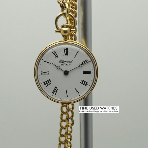 Chopard Taschenuhr 18k Gold mit Goldkette 18k Handaufzug
