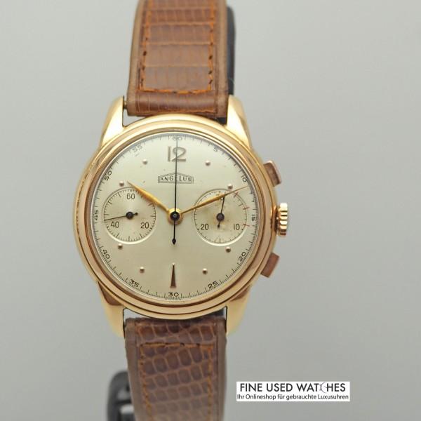 Angelus Vintage Chronograph 18k/750/- Rosegold